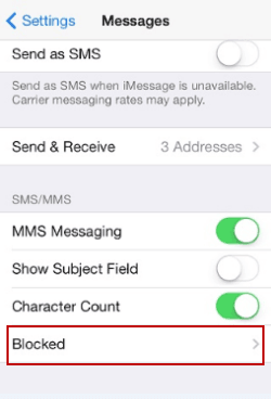 Delete contacts from message block list on iphone ccuart Images