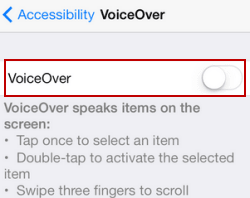 Enable or Disable VoiceOver on iPhone/iPad