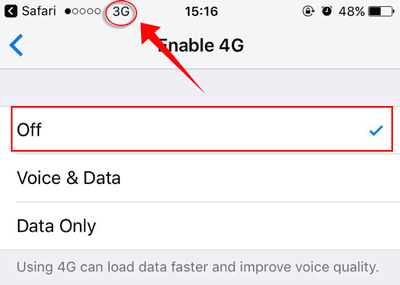 Enable 4G