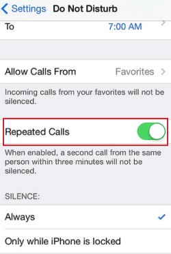 How to Receive Repeated Calls in Do Not Disturb Mode on iPhone