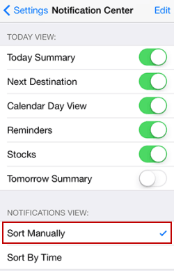 sort notifications view manually or by time in iphone ipad rh isunshare com iPad Notifications iPhone Push Notifications