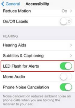 How to Turn on LED Flash for Alerts in iPhone and iPad
