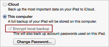 itunes backup greyed out