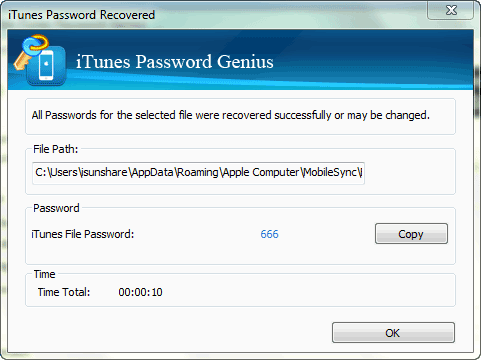 recover iTunes backup password successfully