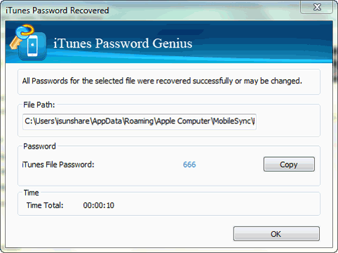 recover lost iPhone backup password