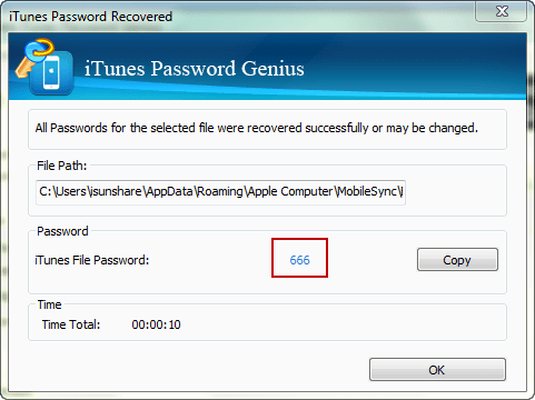 recover encrypted itunes backup password