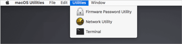 other utilities in mac recovery mode