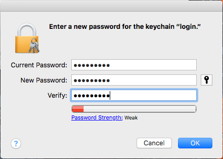 how to remove keychain password on mac