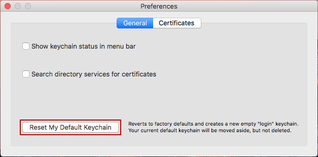 mac reset keychain password terminal