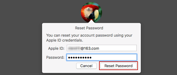 enter associated Apple ID and password