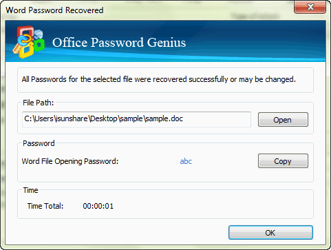 find out locked office password
