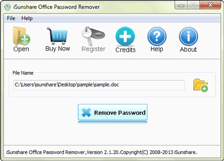open locked office file with password remover