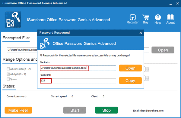 recover office password with office password genius advanced successfully