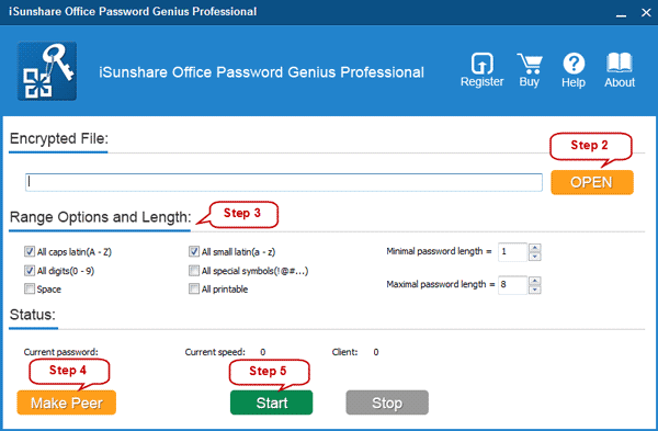 run Office Password Genius Professional