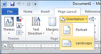 change orientation in word 2010 and 2013