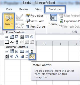 Create a Drop-down List Calendar in Excel 2007,2010,2013