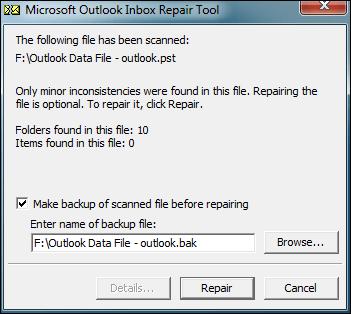 microsoft outlook inbox repair tool
