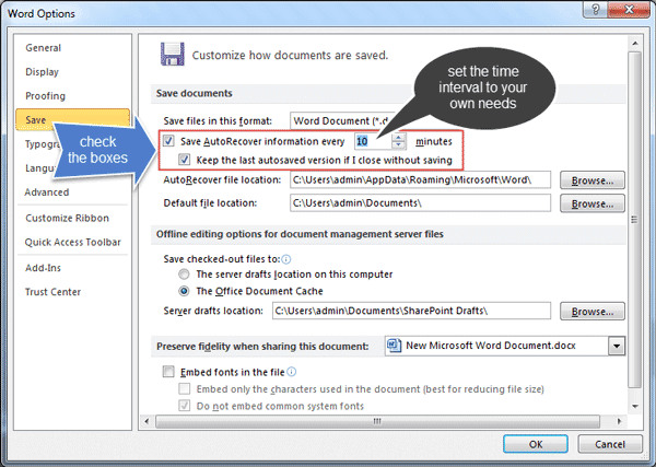 Rescue: How to Recover Unsaved Documents in Office 2010
