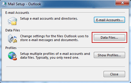 article locating outlook data files deaacc