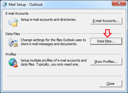 click data files in mail setup