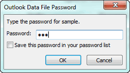 type outlook pst file password