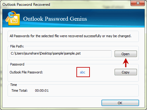 recover outlook 2016 pst file lost password