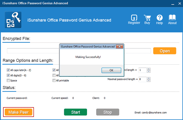 create pptx password recovery client program
