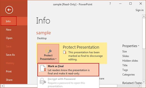 undo read only powerpoint