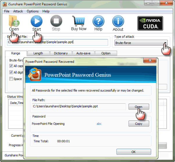 view PowerPoint with PowerPoint Password Genius without Password