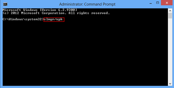 active windows 8 product key with command prompt