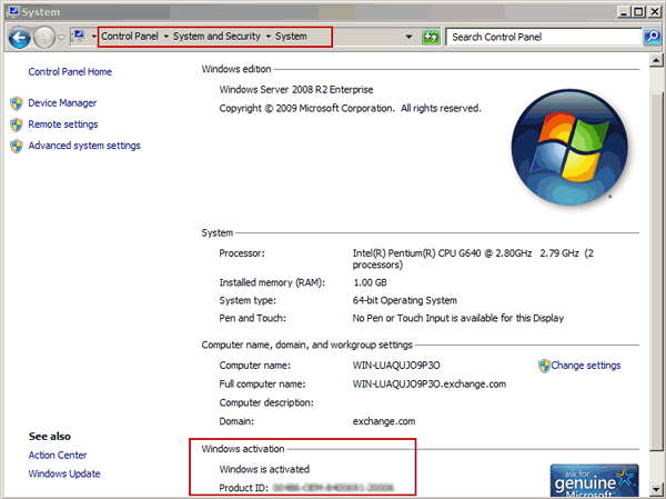 get Windows Server 2008 (R2) PID manually
