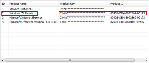 recover windows 7 product key