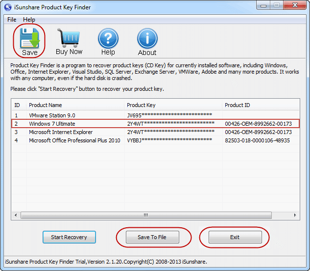 windows 7 key finder software