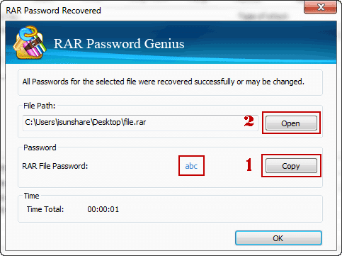 recover password protected winrar file password