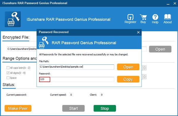 rar pass key