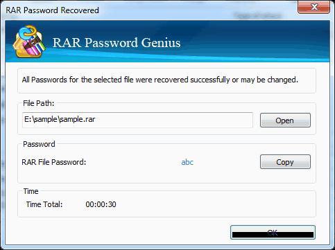 Recover RAR/WinRAR Archives Password - RAR Password Genius