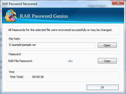 rar password removed