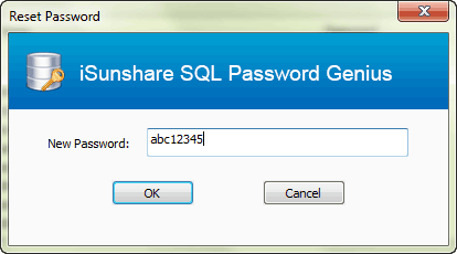 reset SQL Server user password