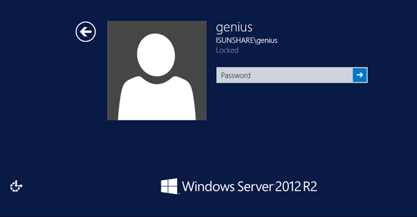 locked out of Windows Server 2012
