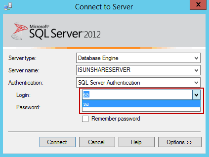 login SQL Server with another sysadmin user