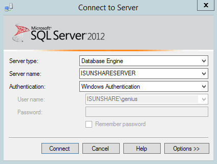 login SQL Server with Windows Authentication mode