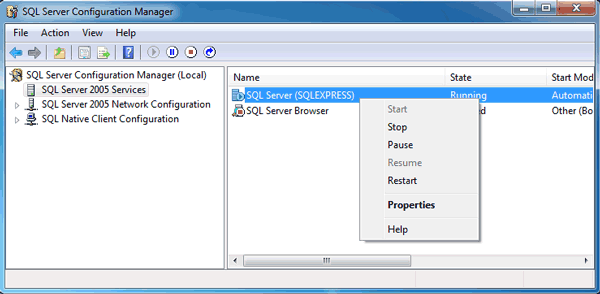 how to change server authentication mode