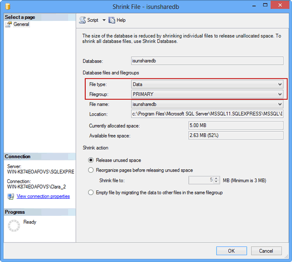 how to shrink log file in sql server 2008 r2 management studio