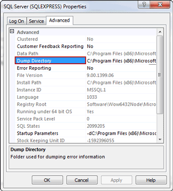 How to Identify Location of SQL Server Error Log File to