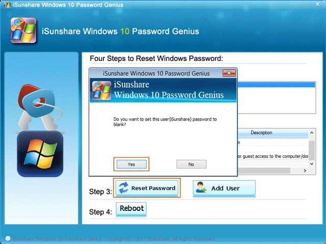 reset windows 10 forgotten administrator password