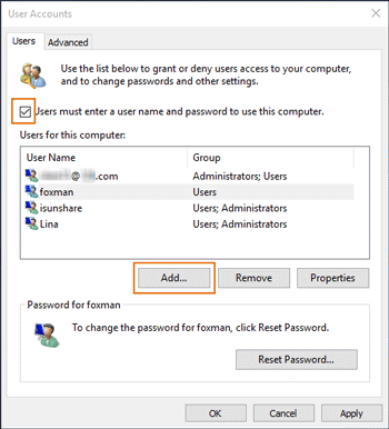 choose to add new user in user account settings