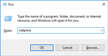 open user account dialog with netplwiz