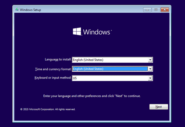 successfully boot windows 10 computer from installation media