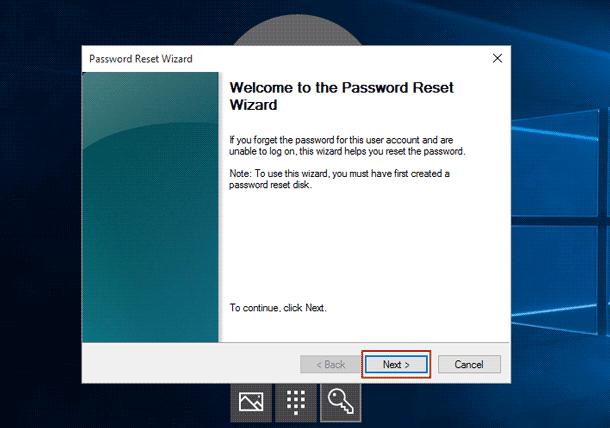 forgot password for dell laptop windows 10