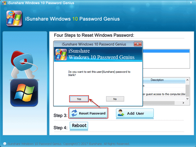 reset lenovo thinkpad laptop windows 10 password with isunshare disk